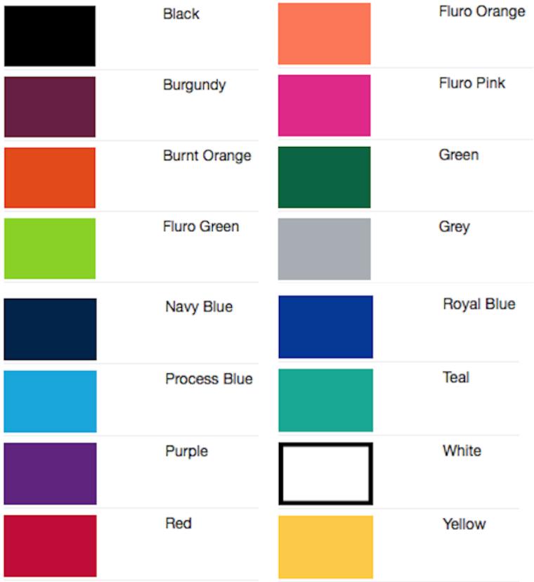 gemini-lanyard-colour-chart