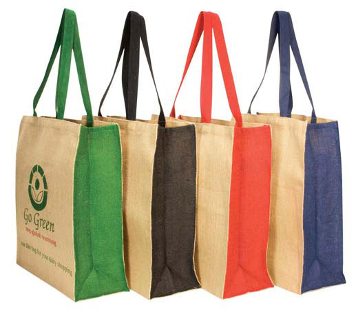 Jute Panelled Carry-all Bag
