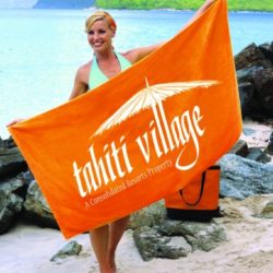 Signature Ivory Touch Beach Towel