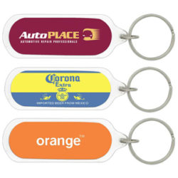 Oval Acrylic Key Chain