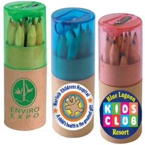 Coloured Pencils in Cardboard Tube