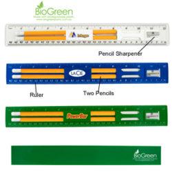 BioGreen Pencil & Ruler Set