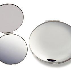 Silver Compact Mirror