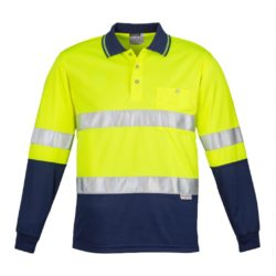 Day/Night Hi-Vis Long Sleeve Hooped Polo
