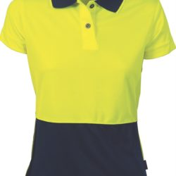 DNC Ladies Hi-Vis Two Tone S/S Polo