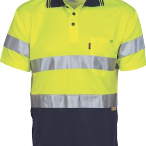 DNC Hi-Vis D/N Cool Breathe S/S Polo With 3M 8906 R/Tape