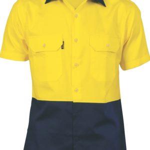 DNC Hi-Vis 2 Tone Cool-Breeze Cotton S/S Shirt