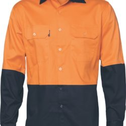DNC Hi-Vis 2 Tone Cool-Breeze Cotton L/S Shirt