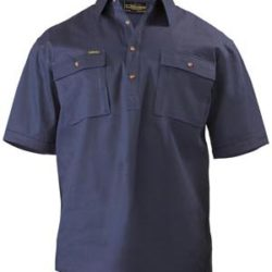Bisley S/S Closed Front Cotton Drill Workshirt