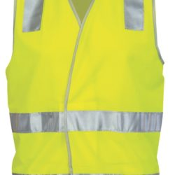 DNC Day/Night Safety Vest with Hoop and Shoulder CSR R/Tape