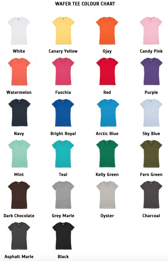 wafer-tee-colour-chart