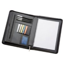 A4 Leather Zippered Compendium 505