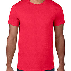 Anvil Black Tee Red