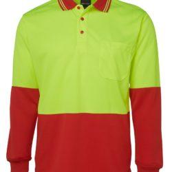 6hvpl-hi-vis-long-sleeve-traditional-polo-lime-red