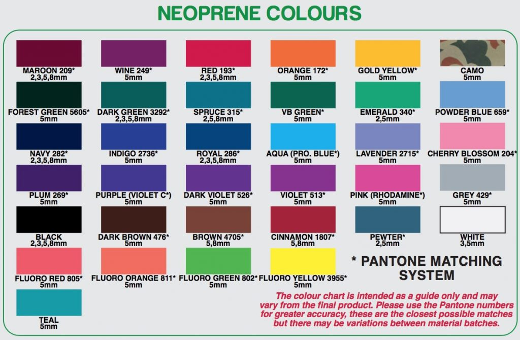 neoprene-colours