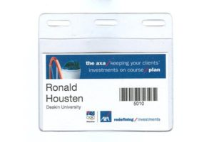 Business Card Conference Name Tag Holder A