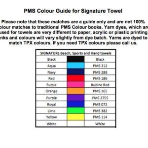 Signature Black Print Beach Towel