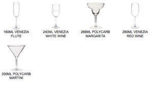 Polycarbonate Stemware