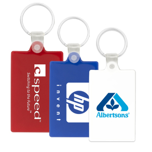 Rectangle PVC Key Chain