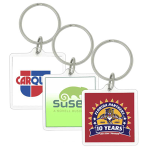 Square Acrylic Key Chain