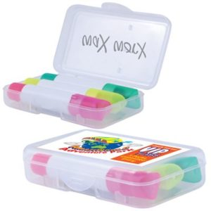 Set of 3 Wax Highlight Markers in Clear Case