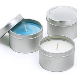 Unscented or Scented Candle Tin