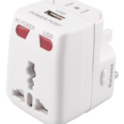 Mr Universe Travel Adaptor with USB Charger