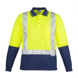 Day/Night Hi-Vis Long Sleeve Shoulder Polo