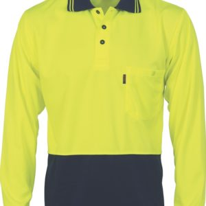 DNC Hi-Vis Two Tone Cool Breathe L/S Polo