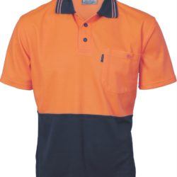 DNC Cotton Back Hi-Vis Two Tone Fluro S/S Polo