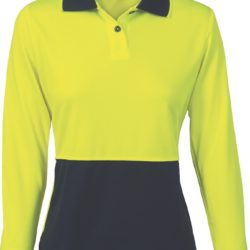 DNC Ladies Hi-Vis Two Tone L/S Polo