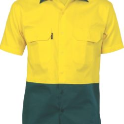 DNC Hi-Vis Two Tone 190gsm Cotton Drill S/S Shirt