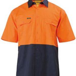 Bisley 2 Tone Cool Lightweight Drill S/S Shirt