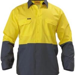 Bisley 2 Tone Cool Lightweight Drill L/S Shirt