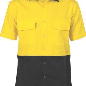 DNC Hi-Vis 3 Way Cool-Breeze Cotton S/S Shirt