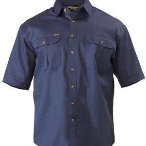 Bisley Cotton Drill S/S Workshirt