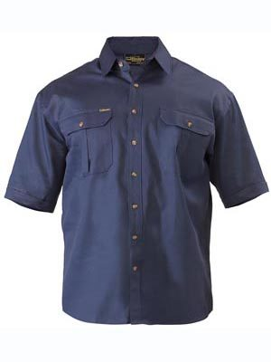 Bisley Cotton Drill S/S Workshirt
