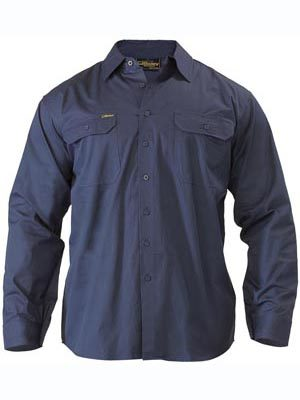 Bisley L/S Lightweight Drill Workshirt