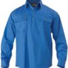 Bisley L/S Closed Front Cotton Drill Workshirt