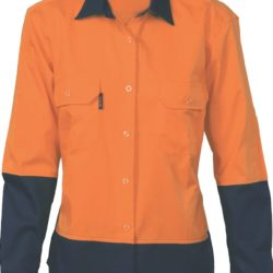 DNC Ladies Hi-Vis 2 Tone Cool-Breeze Cotton L/S Shirt
