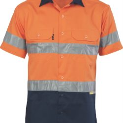 DNC Hi-Vis Cool-Breeze Cotton S/S Shirt with 3M 8906 R/Tape