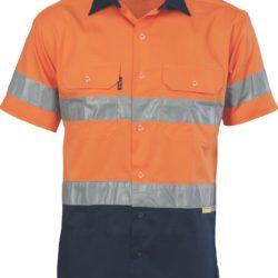DNC Hi-Vis Cool-Breeze Cotton S/S Shirt with 3M 8906 R/Tape