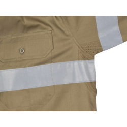 DNC Hi-Vis Cool-Breeze 155gsm Cotton L/S Shirt with CSR R/Tape