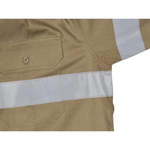 DNC Hi-Vis Cool-Breeze 155gsm Cotton L/S Shirt with CSR R/Tape
