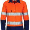 DNC Ladies Hi-Vis Cool-Breeze Cotton L/S Shirt with CSR R/Tape