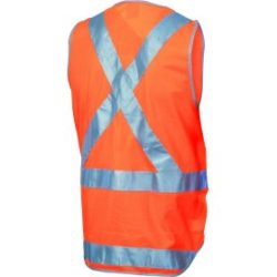 DNC Day/Night Cross Back Safety Vests with Tail