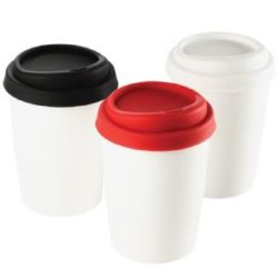 Ceramic Travel Mug with Silicone Lid