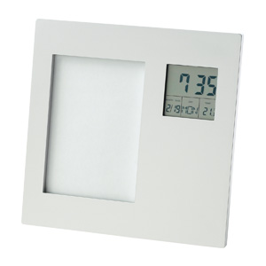 Photo Frame with Clock, Date, Temperature