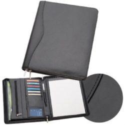 A4 Leather Zippered Compendium 884BK