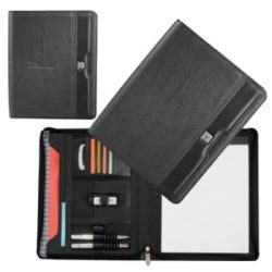 Cutter & Buck A4 Zippered Leather Compendium